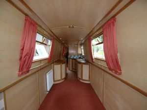 Ross Boats Bespoke Narrowboats and Boat Safety Inspection - SOLD 62 foot Live Aboard / Extended luxury cruising - Open plan Lounge-Galley-Dinette
